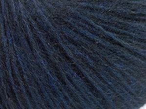 Fiberinnehåll 76% Tencel, 24% Mohair, Brand Ice Yarns, Dark Blue, Black, fnt2-64410