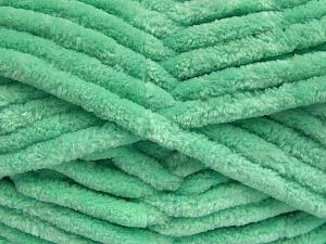 Fiber Content 100% Micro Fiber, Light Green, Brand Ice Yarns, Yarn Thickness 6 SuperBulky  Bulky, Roving, fnt2-64524