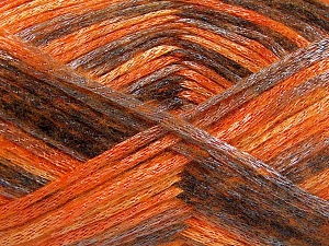 Fiber Content 70% Polyamide, 19% Wool, 11% Acrylic, Orange Shades, Brand Ice Yarns, Grey, Black, Yarn Thickness 4 Medium  Worsted, Afghan, Aran, fnt2-64595