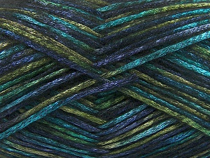 Fiber Content 70% Polyamide, 19% Wool, 11% Acrylic, Turquoise, Navy, Brand Ice Yarns, Green, Yarn Thickness 4 Medium  Worsted, Afghan, Aran, fnt2-64598