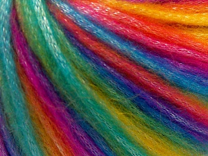 Fiber Content 56% Polyester, 44% Acrylic, Rainbow, Brand Ice Yarns, Yarn Thickness 4 Medium  Worsted, Afghan, Aran, fnt2-64626