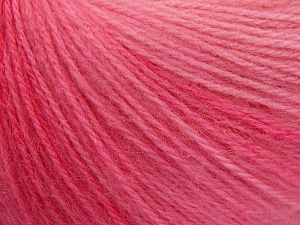 Fiber Content 60% Acrylic, 20% Angora, 20% Wool, Pink Shades, Brand Ice Yarns, Yarn Thickness 2 Fine  Sport, Baby, fnt2-64633