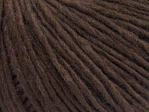 Fiberinnehåll 50% Akryl, 50% Ull, Brand Ice Yarns, Coffee Brown, fnt2-64669