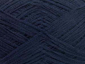Fiber Content 74% Cotton, 26% Polyamide, Navy, Brand Ice Yarns, Yarn Thickness 3 Light  DK, Light, Worsted, fnt2-64943