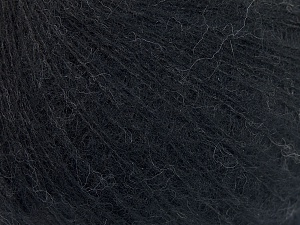 Fiber Content 50% Polyamide, 40% Baby Alpaca, 10% Merino Wool, Brand Ice Yarns, Black, Yarn Thickness 1 SuperFine  Sock, Fingering, Baby, fnt2-64968