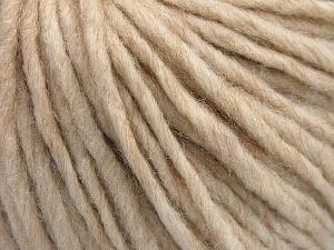 Fiber Content 50% Merino Wool, 25% Acrylic, 25% Alpaca, Light Beige, Brand Ice Yarns, Yarn Thickness 5 Bulky  Chunky, Craft, Rug, fnt2-65074