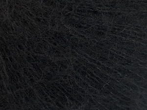 Knitted as 4 ply Fiber Content 40% Polyamide, 30% Acrylic, 30% Kid Mohair, Brand Ice Yarns, Black, Yarn Thickness 1 SuperFine  Sock, Fingering, Baby, fnt2-65149