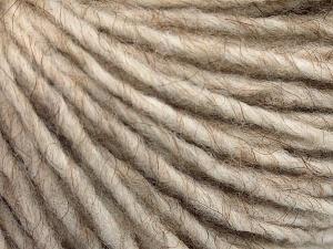 Fiber Content 50% Merino Wool, 25% Acrylic, 25% Alpaca, Light Beige, Brand Ice Yarns, Yarn Thickness 5 Bulky  Chunky, Craft, Rug, fnt2-65174