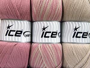 Fiber Content 100% Antipilling Acrylic, Orchid, Light Camel, Brand Ice Yarns, Yarn Thickness 4 Medium  Worsted, Afghan, Aran, fnt2-65264