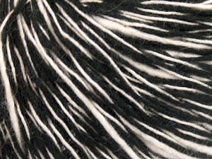 Fiber Content 55% Cotton, 45% Acrylic, White, Brand Ice Yarns, Black, Yarn Thickness 3 Light  DK, Light, Worsted, fnt2-65319