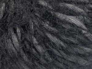 Fiber Content 50% Polyamide, 30% Wool, 20% Acrylic, Brand Ice Yarns, Dark Grey, Black, fnt2-65454