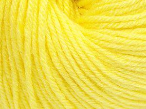 Fiber Content 40% Acrylic, 40% Merino Wool, 20% Polyamide, Light Yellow, Brand Ice Yarns, Yarn Thickness 2 Fine  Sport, Baby, fnt2-65571
