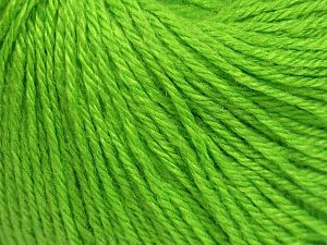 Fiber Content 40% Merino Wool, 40% Acrylic, 20% Polyamide, Brand Ice Yarns, Green, Yarn Thickness 2 Fine  Sport, Baby, fnt2-65576