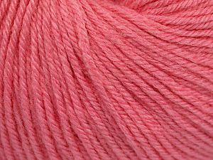 Fiber Content 40% Acrylic, 40% Merino Wool, 20% Polyamide, Pink, Brand Ice Yarns, Yarn Thickness 2 Fine  Sport, Baby, fnt2-65589