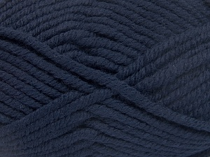 Fiber Content 50% Acrylic, 50% Wool, Brand Ice Yarns, Dark Navy, Yarn Thickness 6 SuperBulky  Bulky, Roving, fnt2-65606