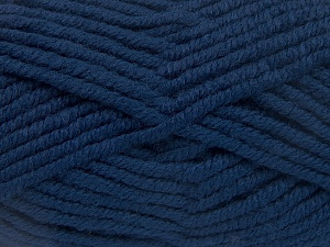 Fiber Content 50% Wool, 50% Acrylic, Brand Ice Yarns, Dark Blue, Yarn Thickness 6 SuperBulky  Bulky, Roving, fnt2-65607