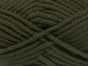 Fiber Content 50% Wool, 50% Acrylic, Brand Ice Yarns, Dark Khaki, Yarn Thickness 6 SuperBulky  Bulky, Roving, fnt2-65610