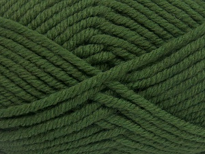 Fiber Content 50% Wool, 50% Acrylic, Brand Ice Yarns, Green, Yarn Thickness 6 SuperBulky  Bulky, Roving, fnt2-65615