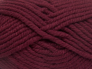 Fiber Content 50% Acrylic, 50% Wool, Brand Ice Yarns, Burgundy, Yarn Thickness 6 SuperBulky  Bulky, Roving, fnt2-65617