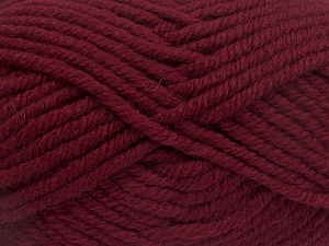 Fiber Content 50% Wool, 50% Acrylic, Brand Ice Yarns, Burgundy, Yarn Thickness 6 SuperBulky  Bulky, Roving, fnt2-65619
