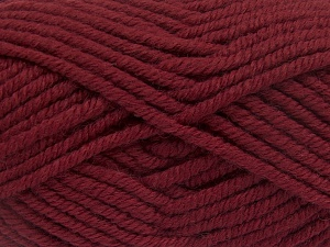 Fiber Content 50% Wool, 50% Acrylic, Brand Ice Yarns, Burgundy, Yarn Thickness 6 SuperBulky  Bulky, Roving, fnt2-65620
