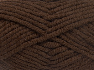 Fiber Content 50% Acrylic, 50% Wool, Brand Ice Yarns, Dark Brown, Yarn Thickness 6 SuperBulky  Bulky, Roving, fnt2-65621