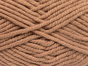 Fiber Content 50% Acrylic, 50% Wool, Brand Ice Yarns, Camel, Yarn Thickness 6 SuperBulky  Bulky, Roving, fnt2-65626