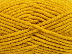 Fiber Content 50% Wool, 50% Acrylic, Brand Ice Yarns, Dark Yellow, Yarn Thickness 6 SuperBulky  Bulky, Roving, fnt2-65627