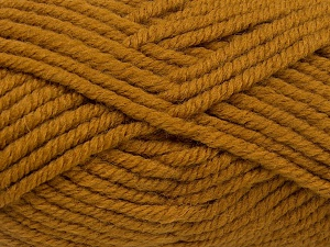Fiber Content 50% Acrylic, 50% Wool, Brand Ice Yarns, Dark Gold, Yarn Thickness 6 SuperBulky  Bulky, Roving, fnt2-65629