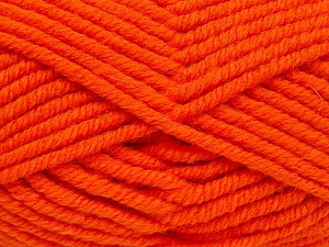 Fiber Content 50% Acrylic, 50% Wool, Orange, Brand Ice Yarns, Yarn Thickness 6 SuperBulky  Bulky, Roving, fnt2-65632