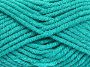 Fiber Content 50% Wool, 50% Acrylic, Turquoise, Brand Ice Yarns, Yarn Thickness 6 SuperBulky  Bulky, Roving, fnt2-65635