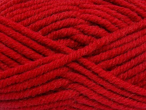 Fiber Content 50% Acrylic, 50% Wool, Red, Brand Ice Yarns, Yarn Thickness 6 SuperBulky  Bulky, Roving, fnt2-65638