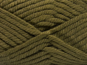 Fiber Content 75% Acrylic, 25% Superwash Wool, Khaki, Brand Ice Yarns, Yarn Thickness 6 SuperBulky  Bulky, Roving, fnt2-65694