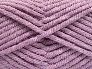 Fiber Content 75% Acrylic, 25% Superwash Wool, Light Lilac, Brand Ice Yarns, Yarn Thickness 6 SuperBulky  Bulky, Roving, fnt2-65696