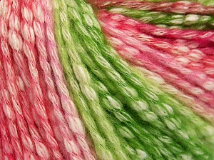 Fiber Content 77% Cotton, 23% Acrylic, Pink Shades, Brand Ice Yarns, Green Shades, Cream, Yarn Thickness 4 Medium  Worsted, Afghan, Aran, fnt2-65706