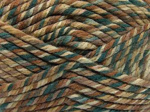 Fiber Content 75% Acrylic, 25% Superwash Wool, Brand Ice Yarns, Green Shades, Brown Shades, Yarn Thickness 6 SuperBulky  Bulky, Roving, fnt2-65760