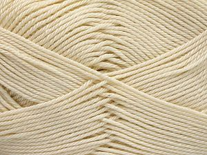 Fiber Content 100% Mercerised Cotton, Brand Ice Yarns, Cream, Yarn Thickness 2 Fine  Sport, Baby, fnt2-65791