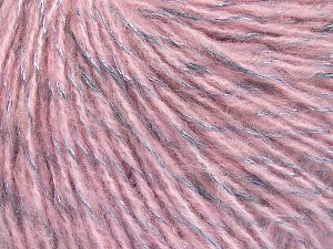 Fiber Content 60% Acrylic, 21% Polyester, 19% Alpaca, Silver, Light Grey, Brand Ice Yarns, Grey, Yarn Thickness 4 Medium  Worsted, Afghan, Aran, fnt2-65801