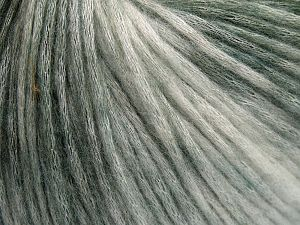 Fiber Content 50% Modal, 35% Acrylic, 15% Wool, White, Brand Ice Yarns, Green Shades, Yarn Thickness 4 Medium  Worsted, Afghan, Aran, fnt2-65847