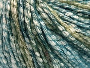 Fiber Content 77% Cotton, 23% Acrylic, Turquoise, Brand Ice Yarns, Green Shades, Yarn Thickness 4 Medium  Worsted, Afghan, Aran, fnt2-65878