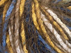 Fiber Content 60% Acrylic, 40% Polyamide, Yellow, White, Khaki, Brand Ice Yarns, Blue, Yarn Thickness 5 Bulky  Chunky, Craft, Rug, fnt2-65890
