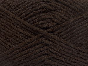 Fiber Content 50% Merino Wool, 50% Acrylic, Brand Ice Yarns, Coffee Brown, Yarn Thickness 5 Bulky  Chunky, Craft, Rug, fnt2-65941
