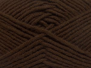 Fiber Content 50% Merino Wool, 50% Acrylic, Brand Ice Yarns, Dark Brown, Yarn Thickness 5 Bulky  Chunky, Craft, Rug, fnt2-65942