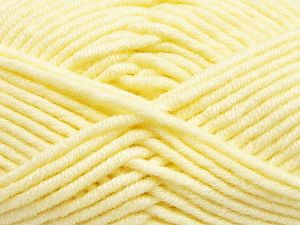 Fiber Content 50% Merino Wool, 50% Acrylic, Lemon Yellow, Brand Ice Yarns, Yarn Thickness 5 Bulky  Chunky, Craft, Rug, fnt2-65945