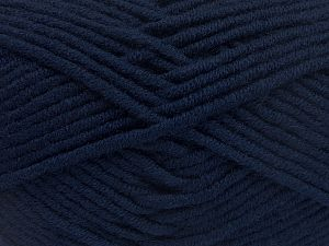 Fiber Content 50% Merino Wool, 50% Acrylic, Navy, Brand Ice Yarns, Yarn Thickness 5 Bulky  Chunky, Craft, Rug, fnt2-65948
