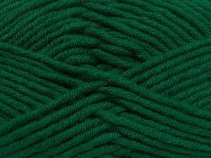 Fiber Content 50% Merino Wool, 50% Acrylic, Brand Ice Yarns, Dark Green, Yarn Thickness 5 Bulky  Chunky, Craft, Rug, fnt2-65949