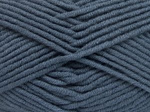 Fiber Content 50% Merino Wool, 50% Acrylic, Smoke Blue, Brand Ice Yarns, Yarn Thickness 5 Bulky  Chunky, Craft, Rug, fnt2-65956