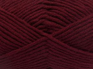 Fiber Content 50% Merino Wool, 50% Acrylic, Brand Ice Yarns, Burgundy, Yarn Thickness 5 Bulky  Chunky, Craft, Rug, fnt2-65960