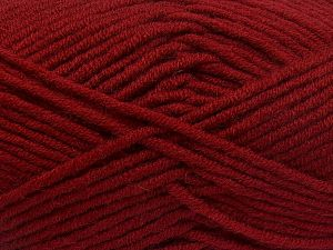 Fiber Content 50% Merino Wool, 50% Acrylic, Brand Ice Yarns, Dark Red, Yarn Thickness 5 Bulky  Chunky, Craft, Rug, fnt2-65962