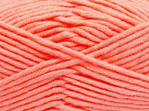 Fiber Content 50% Merino Wool, 50% Acrylic, Light Salmon, Brand Ice Yarns, Yarn Thickness 5 Bulky  Chunky, Craft, Rug, fnt2-65967